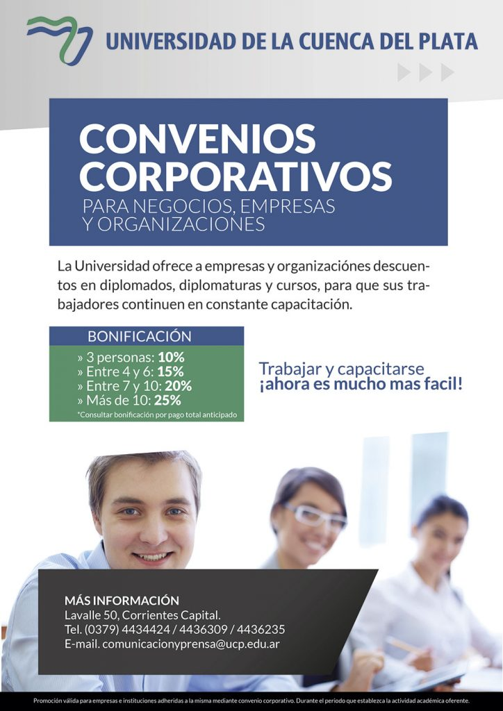 Descuento a empresas y organizaciones para capacitaciones y cursos