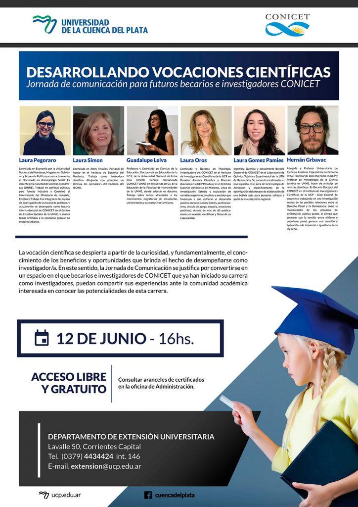Desarrollando vocaciones científicas: Jornadas de comunicación para futuros becarios e investigadores CONICET